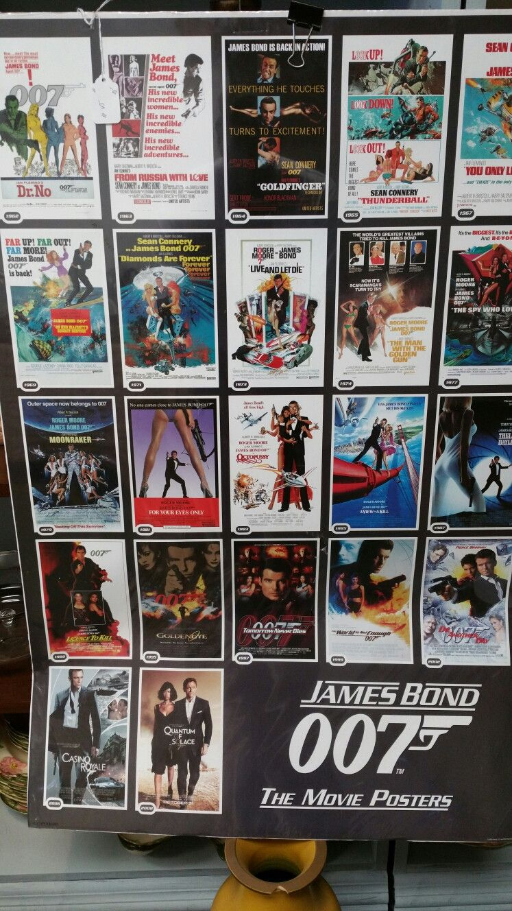 All James Bond poster