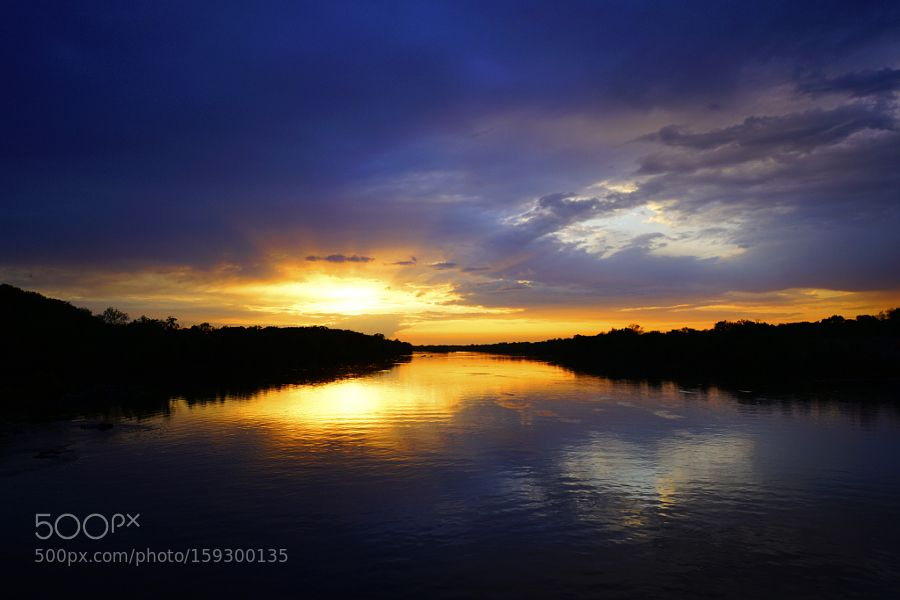 Sunset in Gold and Plum by kevinreynolds_sunrise. @go4fotos