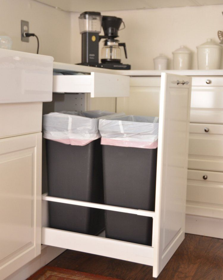Ikea Bodbyn Kitchen Trash Cans