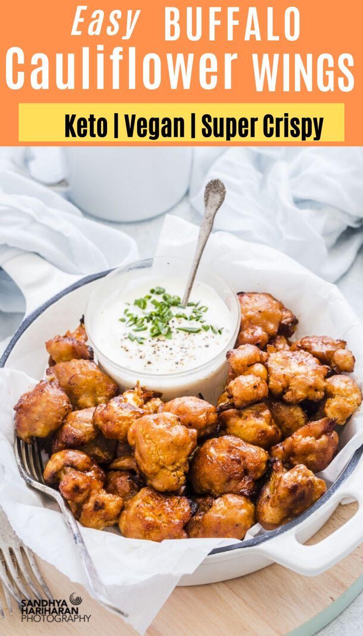 Baked Buffalo Cauliflower Wings Vegan Cauliflower Hot Wings Recipe Recipe In 2020 Hot Wing Recipe Vegan Cauliflower Cauliflower Wings