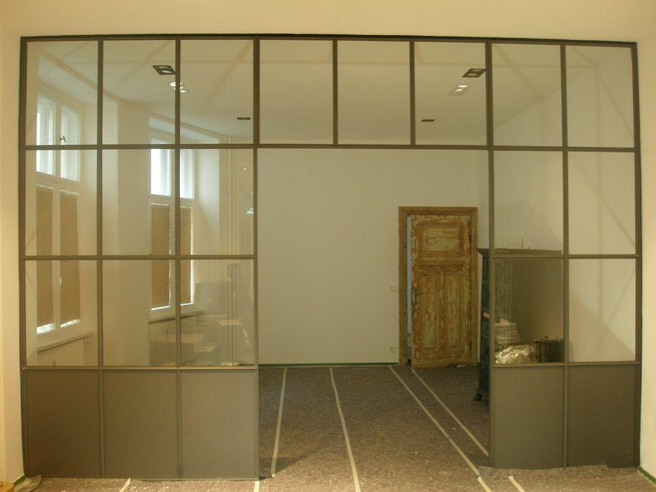 Trennwände Aus Glas raumteiler stahl glas trennwand trennwände