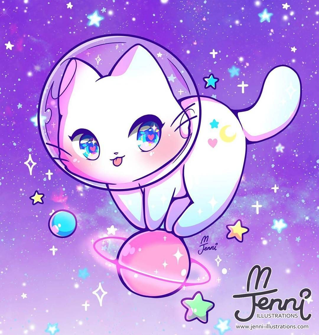 "J E N N I 🐰🌸 on Instagram ""Space Kitty (=^・ω"