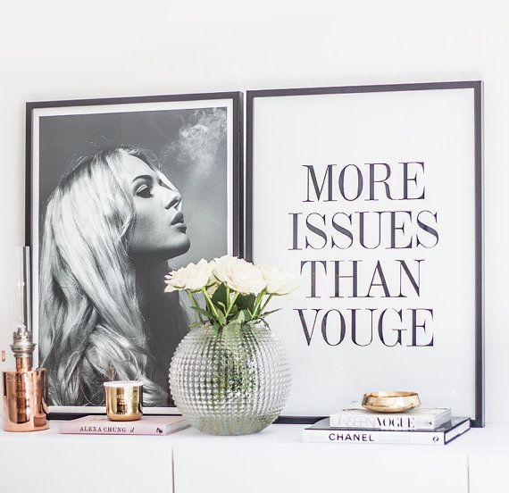 More issues quote fashion bedroom quote typographic print