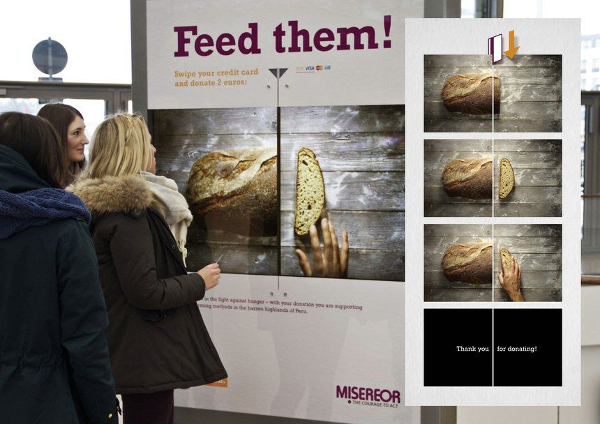 The Social Swipe | Interactive poster, Clever advertising ...