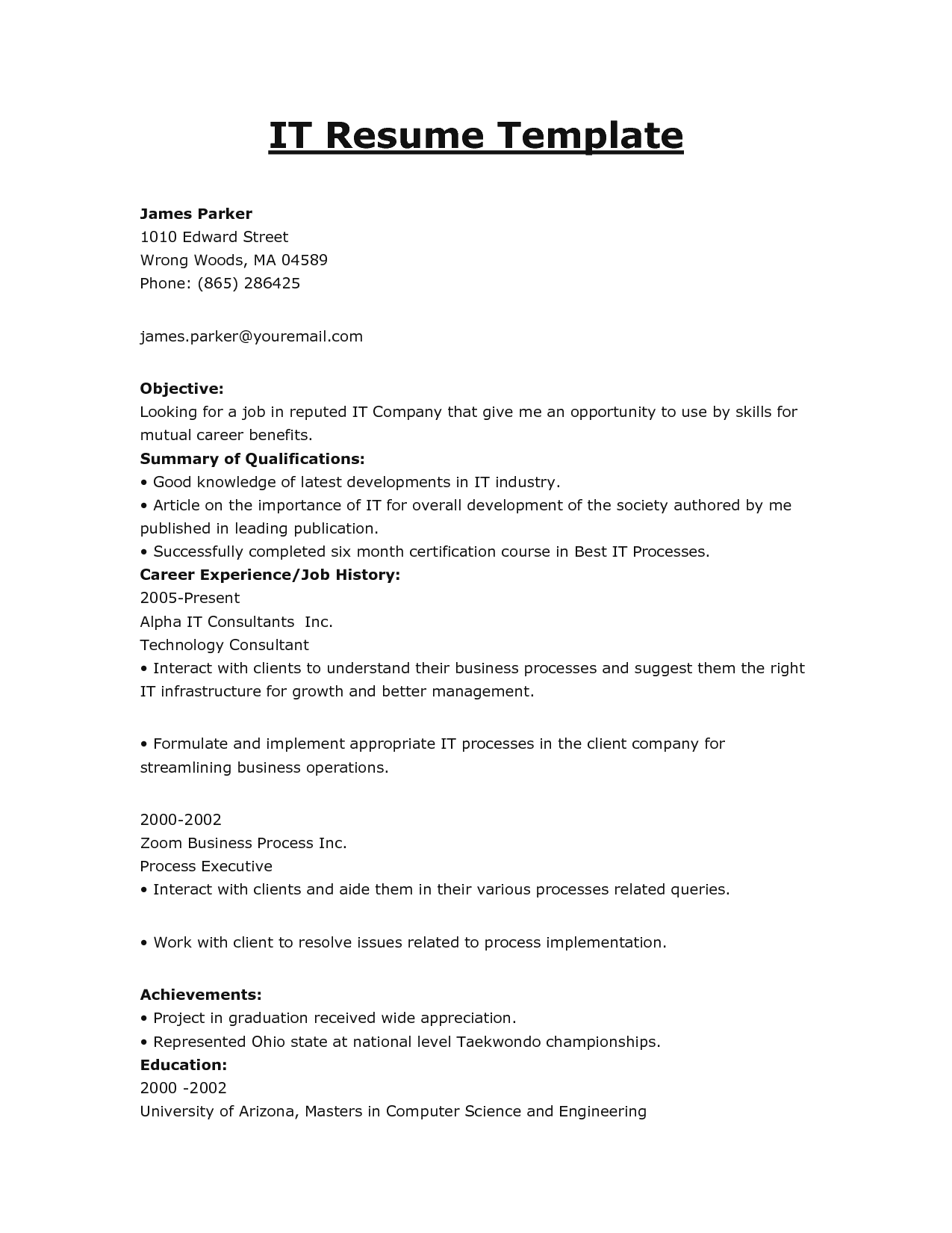 Resume Examples Top Pictures And Images Good Objectives Summary