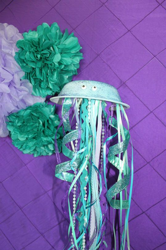 Birthday party ideas blog mermaid ariel inspired for Ariel birthday party decoration ideas