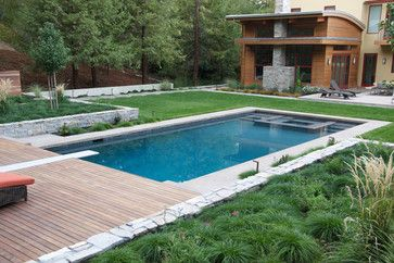 Love This Design Love Rectangle Pools Considering A Pool In A Small Lot What Is The Smallest Size Lot For Pool O Rectangle Pool Rectangular Pool Pool Patio
