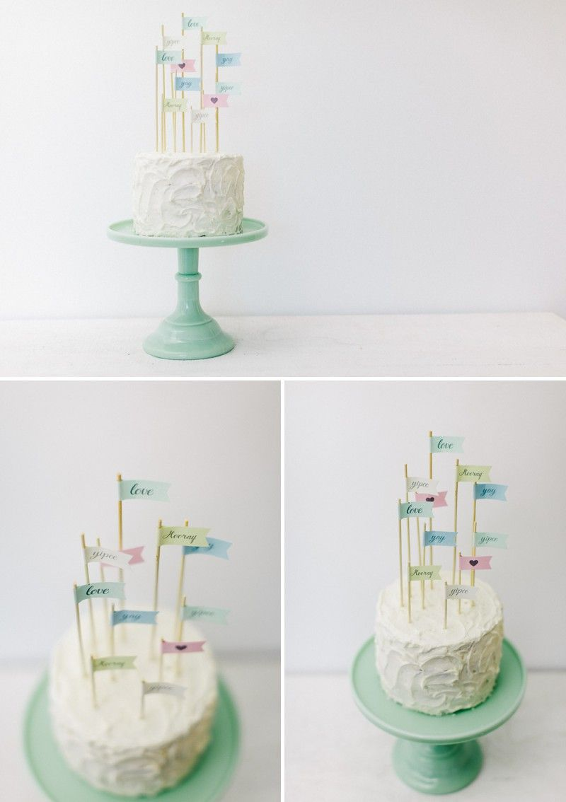 How To Create Your Own Flag Cake Toppers For Your Wedding Desserts - Create Your Wedding Cake
