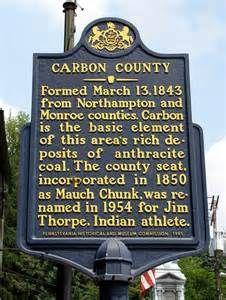 Jim Thorpe Pennsylvania Pa Carbon County Historical Marker Jim Thorpe