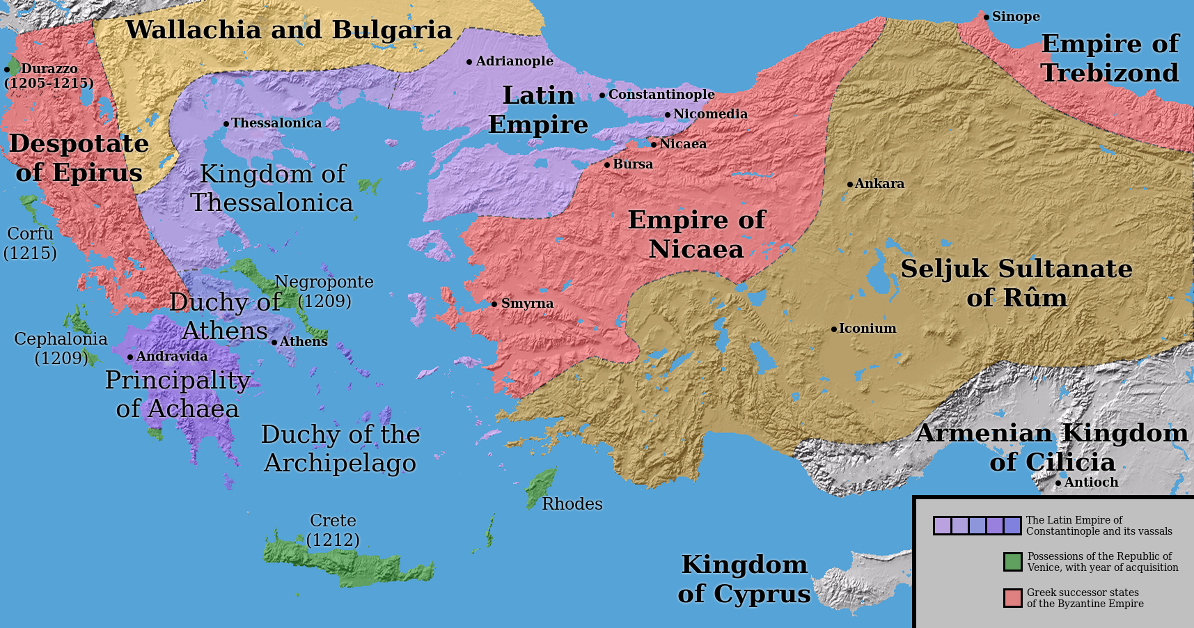 The successor states to the Byzantine Empire. Mystery of History ...