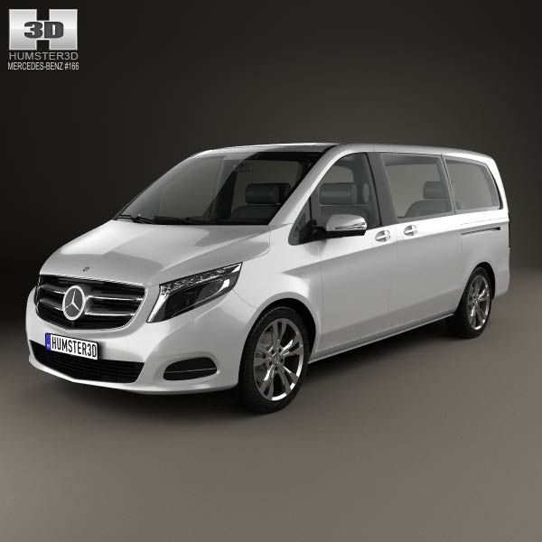 3D Model Of Mercedes-Benz V-Class 2014 (With Images