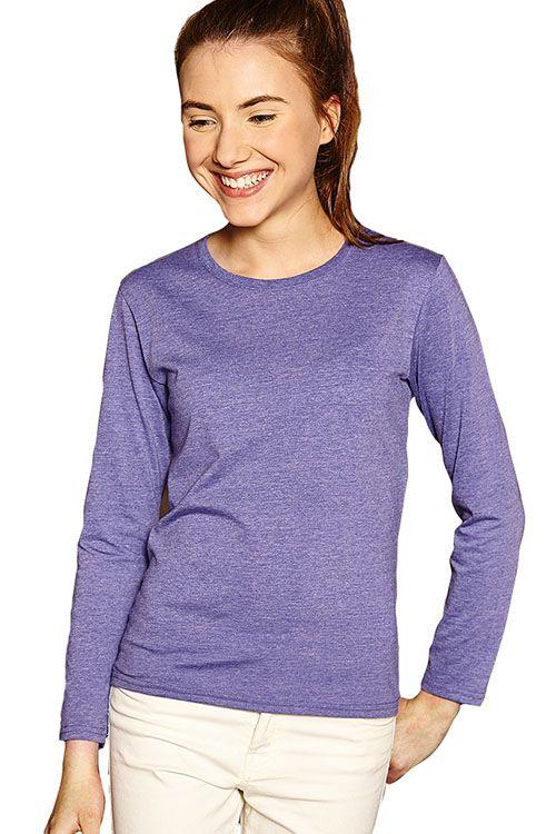 Meisjes t-shirt met ronde hals en lange mouwen    - 65% polyester en 35% ringgesponnen gekamd katoen - single jersey  - grammage: 155 g/m² (wit), 160 g/m² (kleur)  - verwijderbaar neklabel  - zijnaad  - geschikt voor sublimatieprint  - ook verkrijgbaar in een jongens, heren en dames model  - slim fit