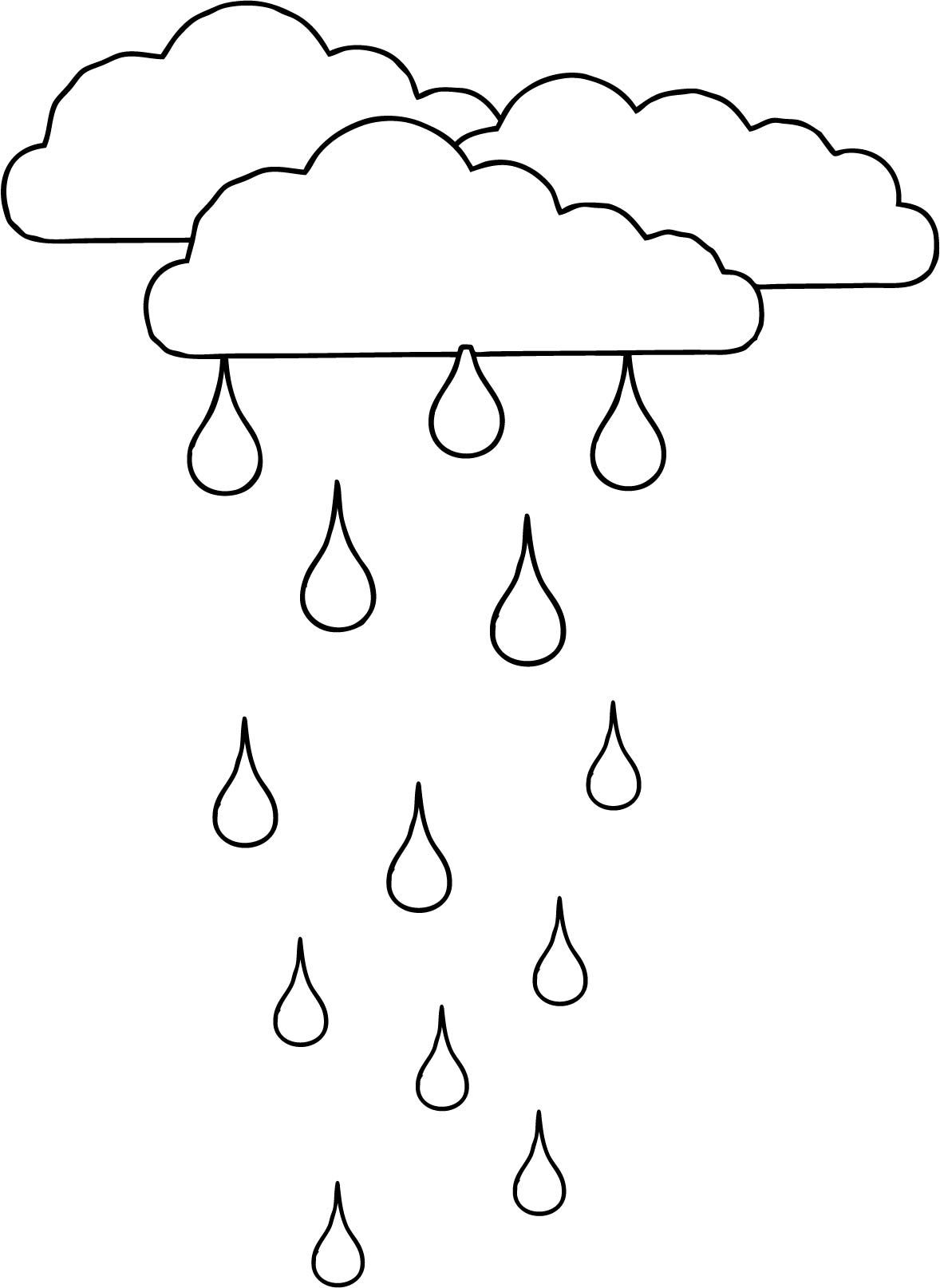 Nice Clouds Rain Coloring Page Coloring Pages Coloring Pages