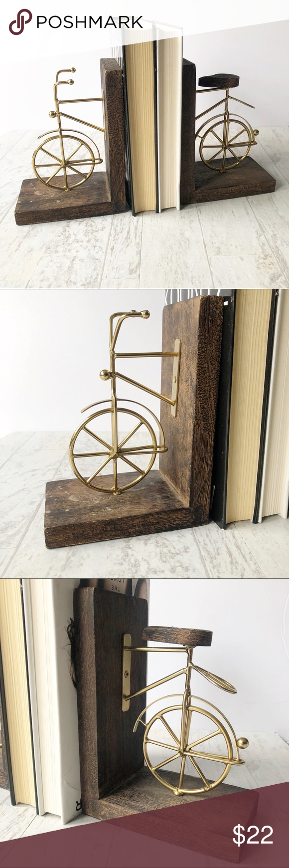 Bicycle Bookends Bookends Accent Decor Home Goods
