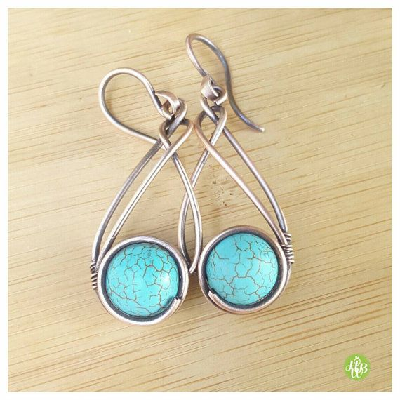 Hey, I found this really awesome Etsy listing at https://www.etsy.com/listing/384741308/turquoise-howlite-wire-earring-wire