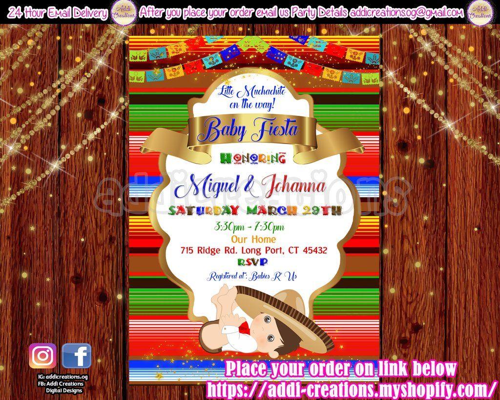 Fiesta Ideas Invitaciones Baby Shower.Baby Fiesta Shower Invitations Customized Item Fiesta Baby