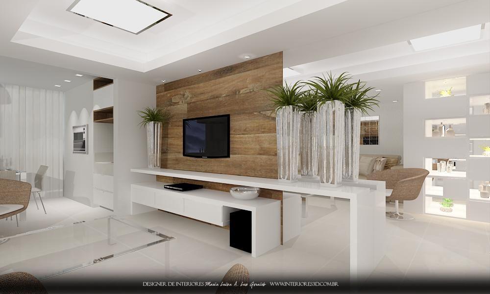 Moveis Para Sala De Jantar E Estar ~ salas de estar jantar churrasqueira hall de entrada corredor projeto