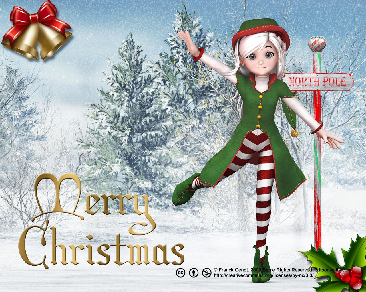 christmas elf wallpaper - photo #3