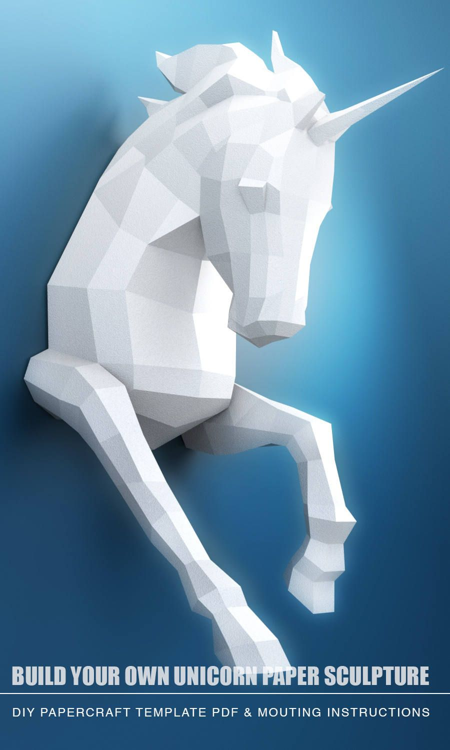 3d Create Your Own Room: Unicorn PAPERCRAFT PDF Papercraft Unicorn Model Unicorn