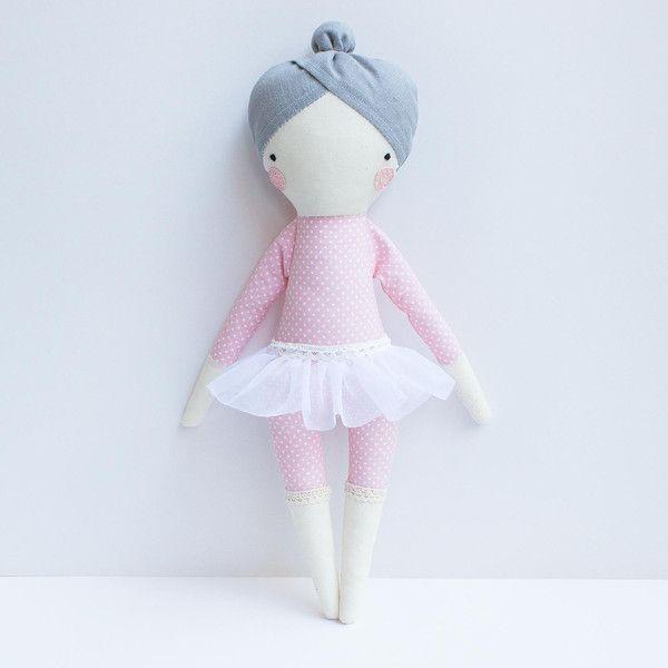 Ella Ballerina Stoff Puppe Kuscheltier von olialemon auf DaWanda.com ...