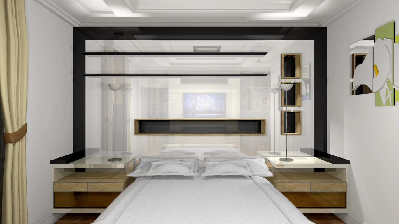 Seguindo a proposta do projeto anterior, a #cabeceira combina #modernidade com #designitaliano, transformando-a em um grande painel de destaque no dormitório.