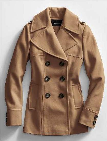 Womens Classic Fully Lined Double Breasted Pea Coat Jacket | Coats ...