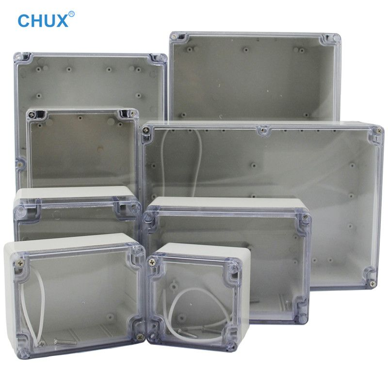 Waterproof Plastic Junction Box Transparent Cover Enclosure Electronic Instrument Housing Case Electrical In 2020 Outdoor Box Electrical Projects Waterproofing Plastic