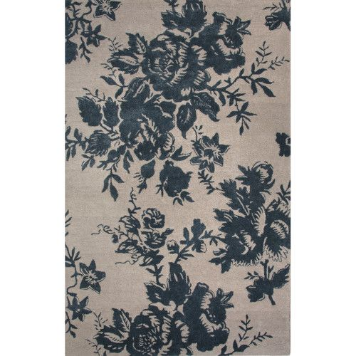 Found it at Wayfair.ca - Shadow Wool and Art Silk Oyster Grey/Blue Hand Tufted Area Rug