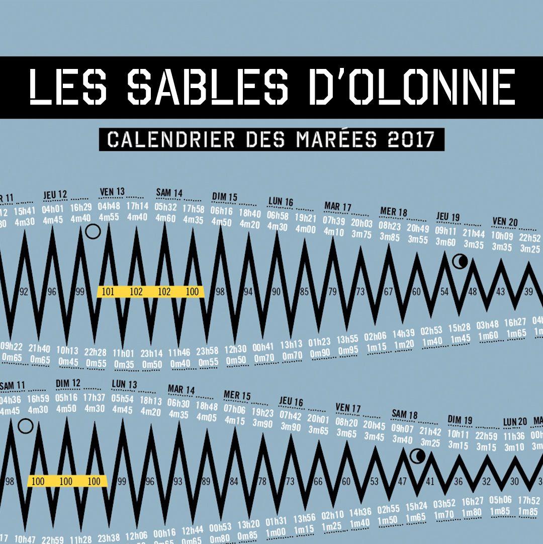 Calendrier Des Marées 2021 Les Sables Dolonne Horaires des marées pour les sables d'Olonne. Artwok, graphisme