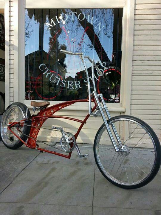 Lowrider Stretch Beach Cruiser : lowrider, stretch, beach, cruiser, Stretched, Custom, Cruiser, Bicycle,, Lowrider, Bicycle