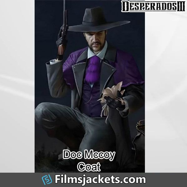 Desperados 3 Doc Mccoy Coat In 2020 Cotton Coat Stylish Coat Coat