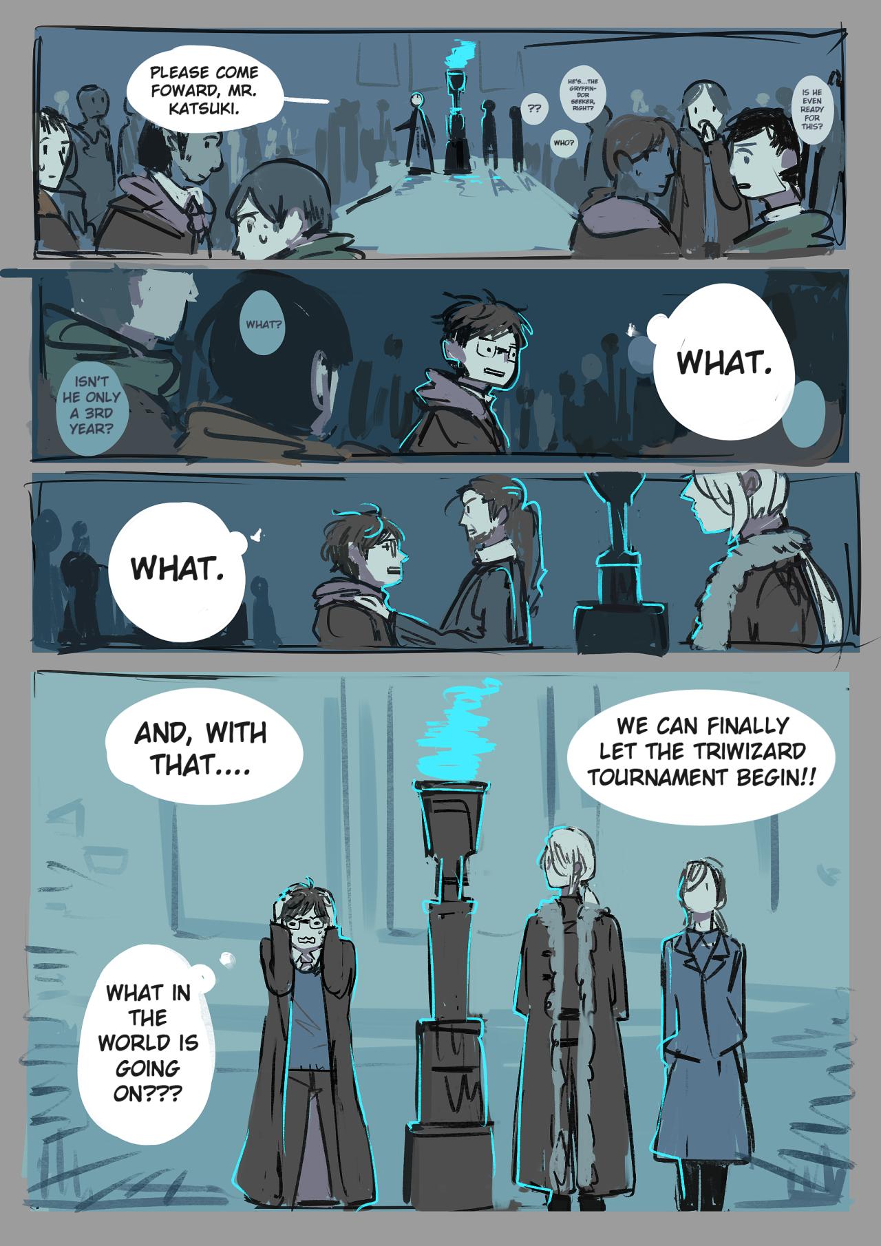 Harry Potter au 4/7 | Yuri!!! on Ice | Yuri on ice comic