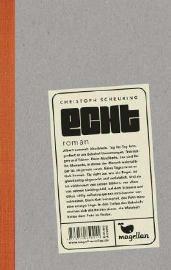 """Christoph Scheuring ist mit """"Echt"""" meiner Meinung nach völlig verdient für den deutschen Jugendliteraturpreis 2015 nominiert. Sein Roman ist lebensnah, bewegend, aufrüttelnd und unendlich ehrlich geschrieben. Ich habe mit Albert gelacht, geweint und gehofft und seine Geschichte hat mich lange nicht losgelassen. Unbedingt lesen!"""