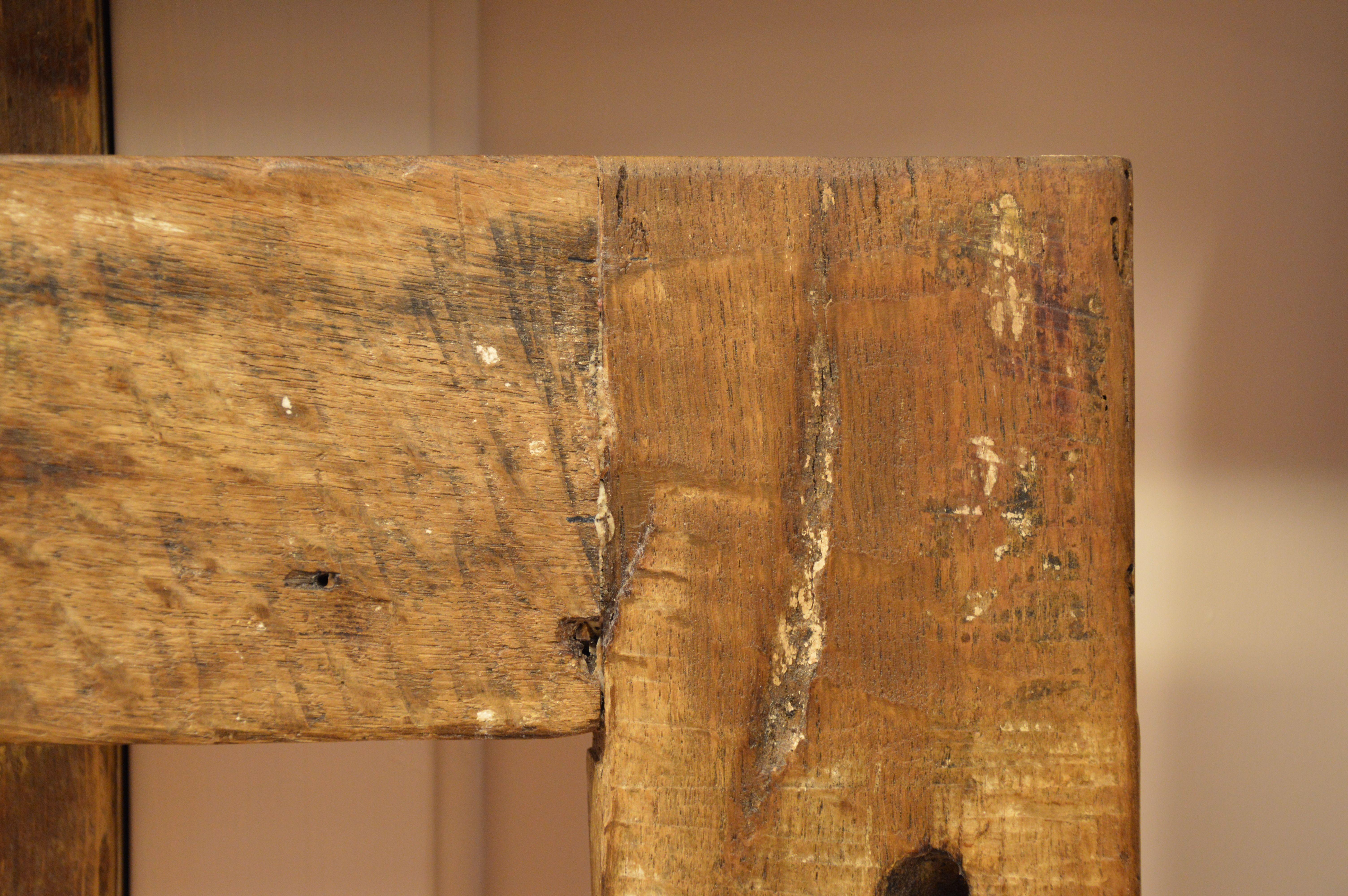 falegnameriabensi... particolare di cornice in rovere antico ...