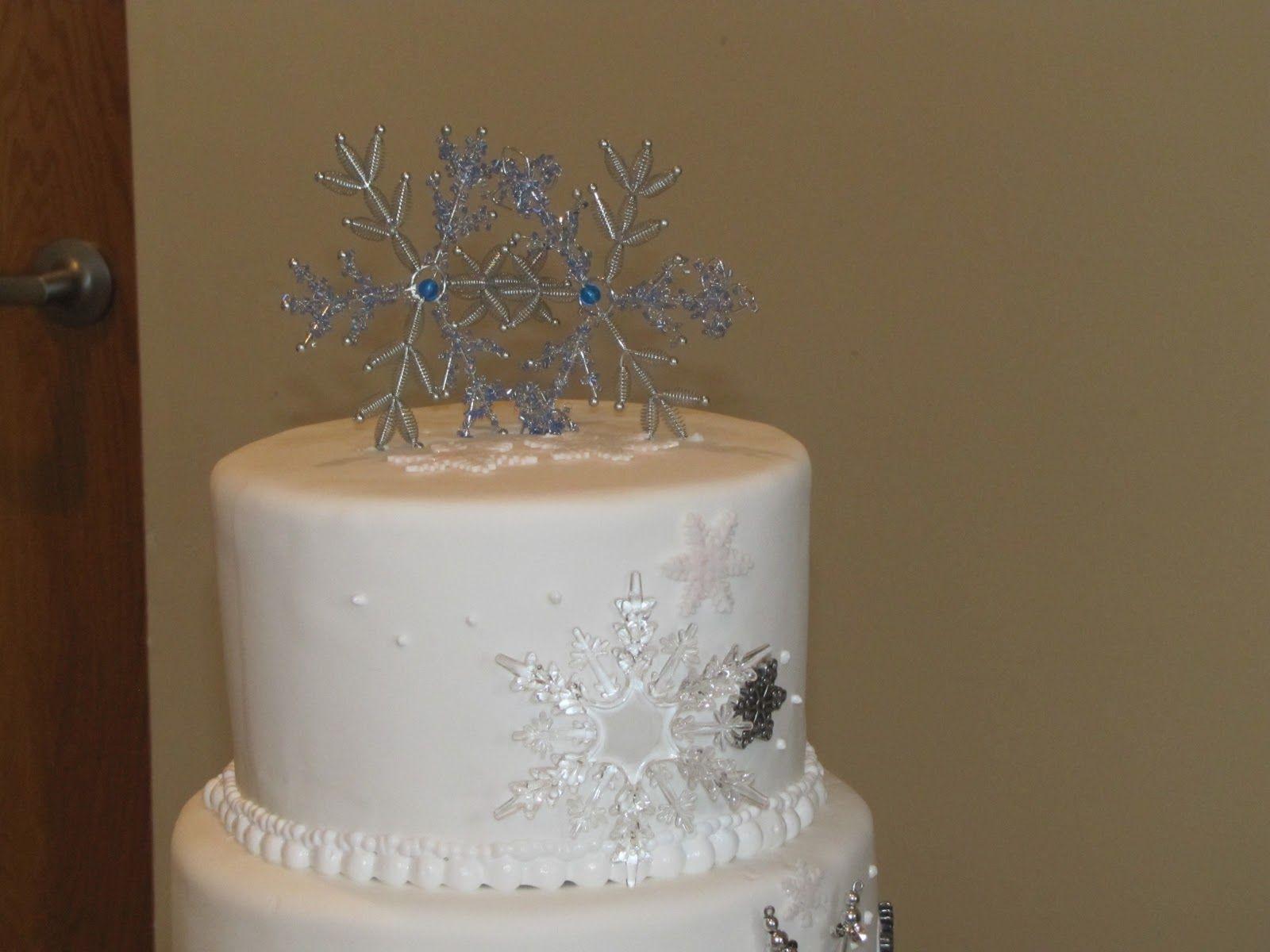 snowflake wedding cake toppers | TJ\'s Happy Cakes: Snowflake Wedding ...