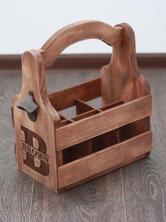 Pack personalizado madera seis portador de cerveza por GoodWoodGift ...