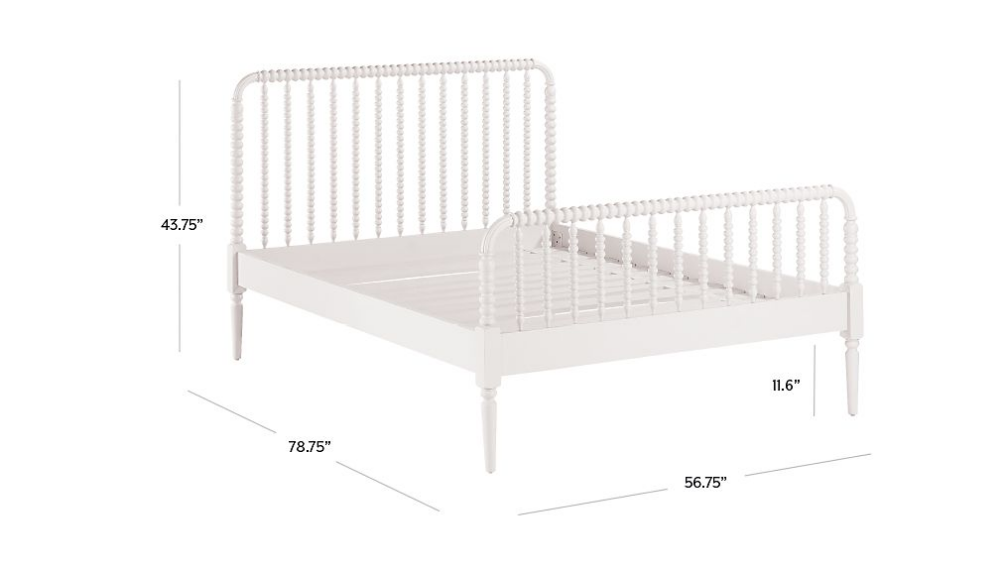 Jenny Lind Kids Bed (White) Crate and Barrel White