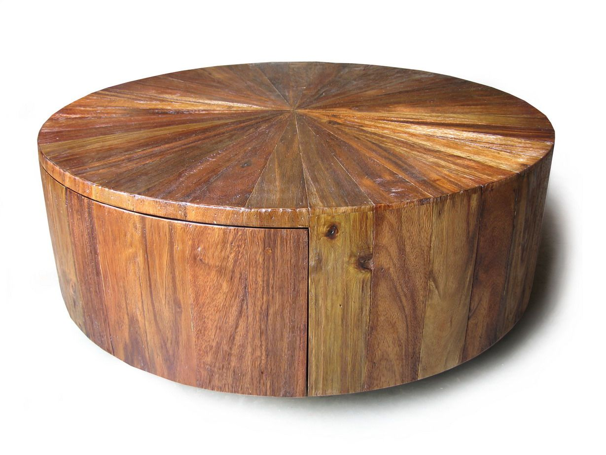 wood drum coffee table canada