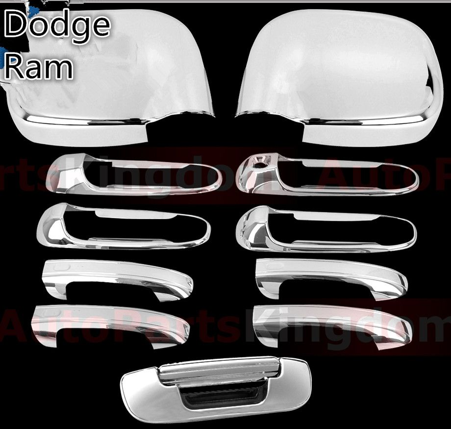 02 08 For Dodge Ram Chrome 1500 2500 3500 Hd Mirror 4 Door Handle Tailgate Abs Cover Affiliate Dodge Ram Dodge Ram 1500 Dodge
