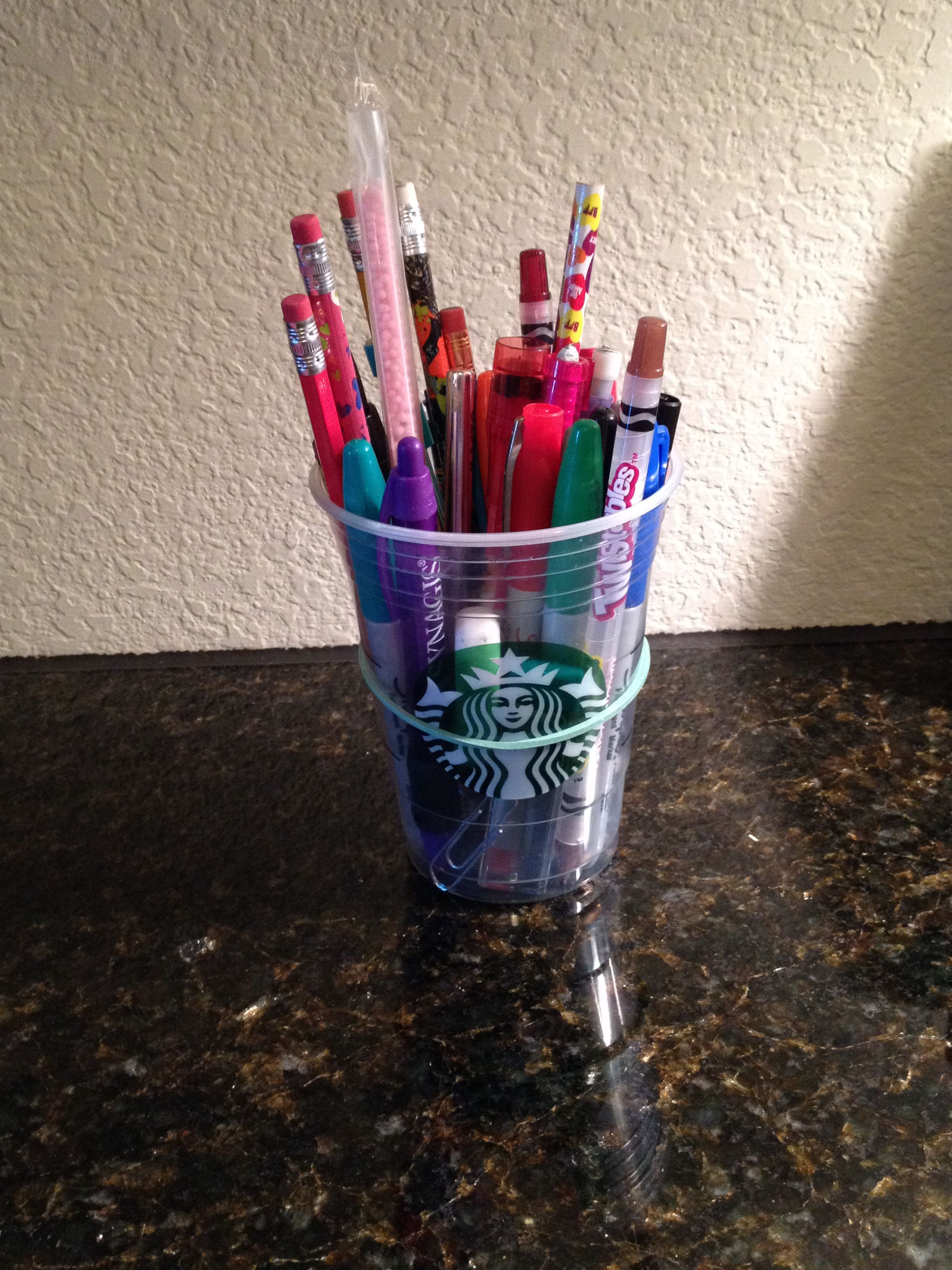 Reuse an old starbucks cup grande is the best for the job