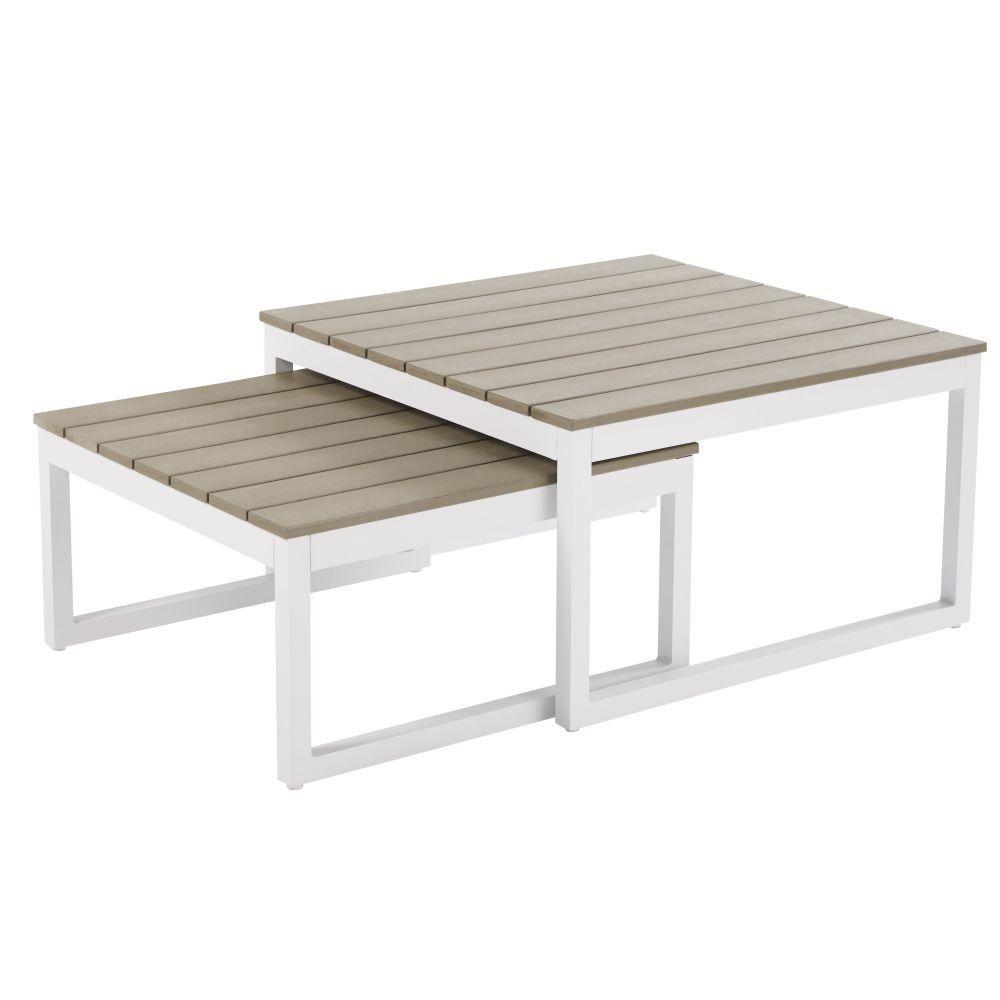en blanc Tables 2019 en de aluminium jardin gigognes WCQrxedBo