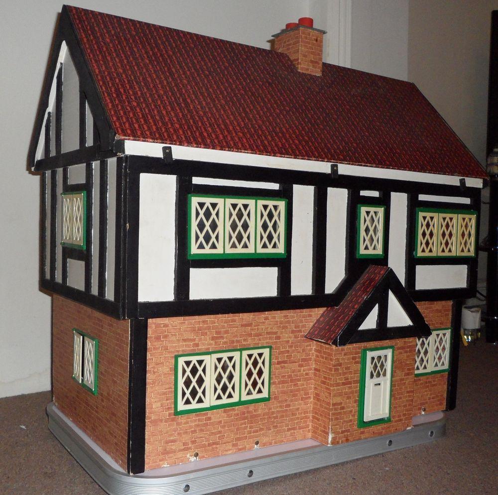 Vintage Tudor style Wooden Dolls House