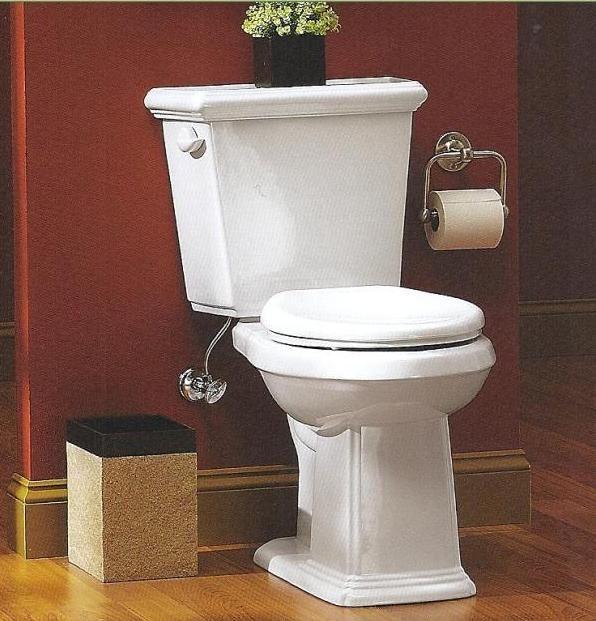 Gerber logan square ergoheight 2 piece elongated toilet for Gerbiere toit