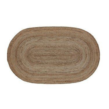 Natural Oval Braided Rug 4x6'  Measures 4x6' Colors: natural jute Made from braided jute Spot clean only  Bring a simple primitive touch to your floor that will compliment your decor with our Natural