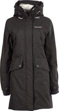 100% toppkvalitet ankommer utloppsbutik Didriksons Mary W Mantel grau schwarz | Coat, Rain jacket, Windbreaker