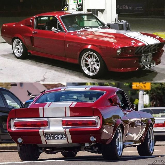"muscle cars pictures on Instagram: ""Pic by/Owner: @guitargeorgeous  _ '67 Mustang Shelby GT 500 Eleanor 🇺🇸! _ ➡️ #musclecarspictures ⬅️ _  #v8 #follow #1967 #ford #mustang…"""