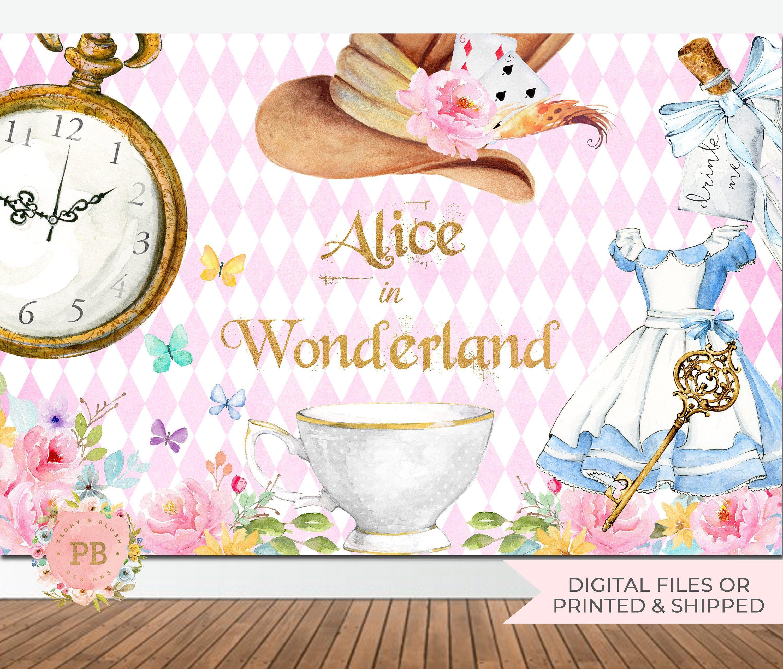 Alice In Wonderland Backdrop Alice In Wonderland Party Banner