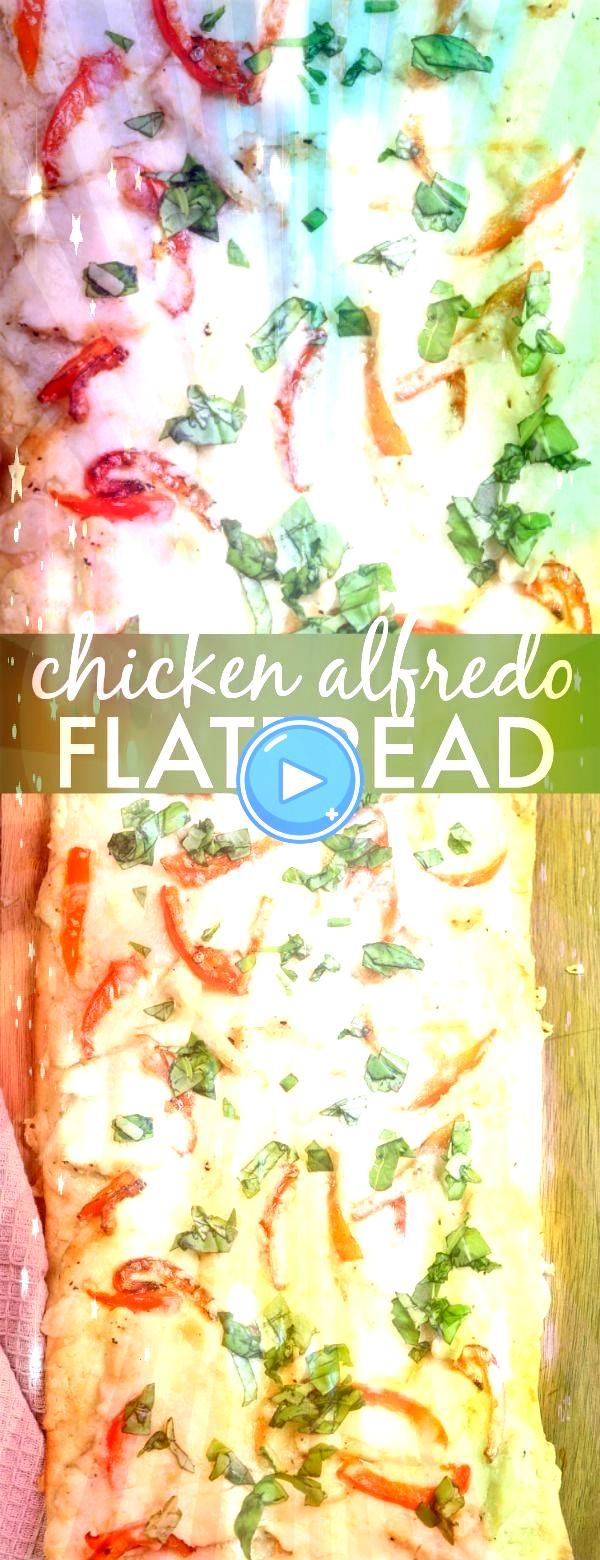 Alfredo Flatbread Recipe This Chicken Alfredo Flatbread recipe is a great appetizer dinner side dish or for brunch A homemade flatbread dough with an Alfredo sauce topped...