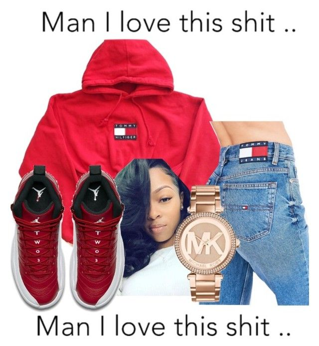"""""""and I love it"""" by littydee ❤ liked on Polyvore featuring Tommy Hilfiger, NIKE and Michael Kors"""