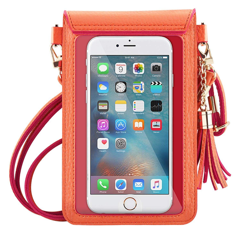Moko cell phone bag pu leather crossbody bag